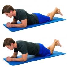 Plank knees